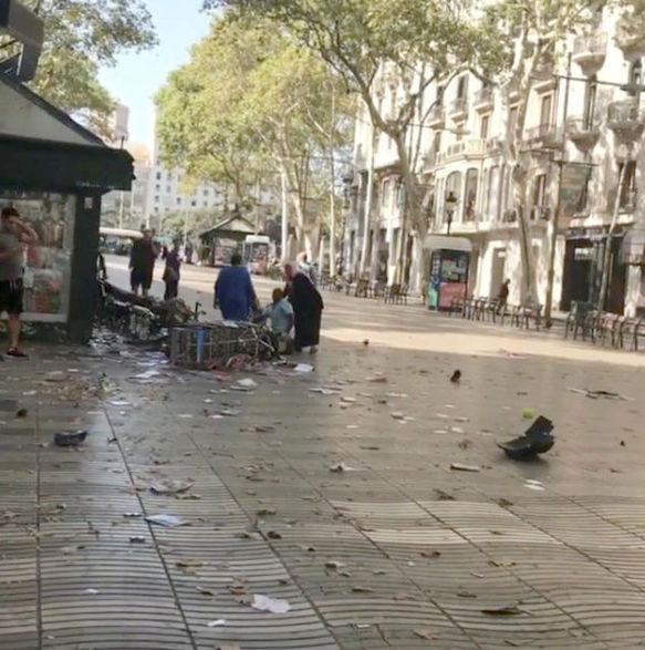 الشارع الذى شهد حادث الدهس ببرشلونة
