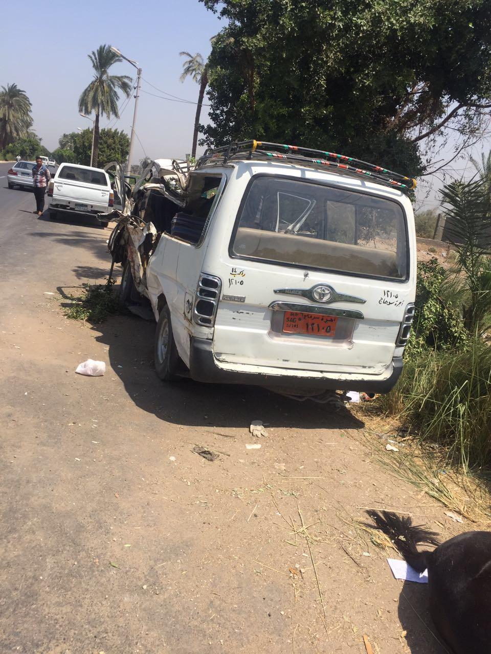 السيارة التى أصطدمت بالعربة الكارو