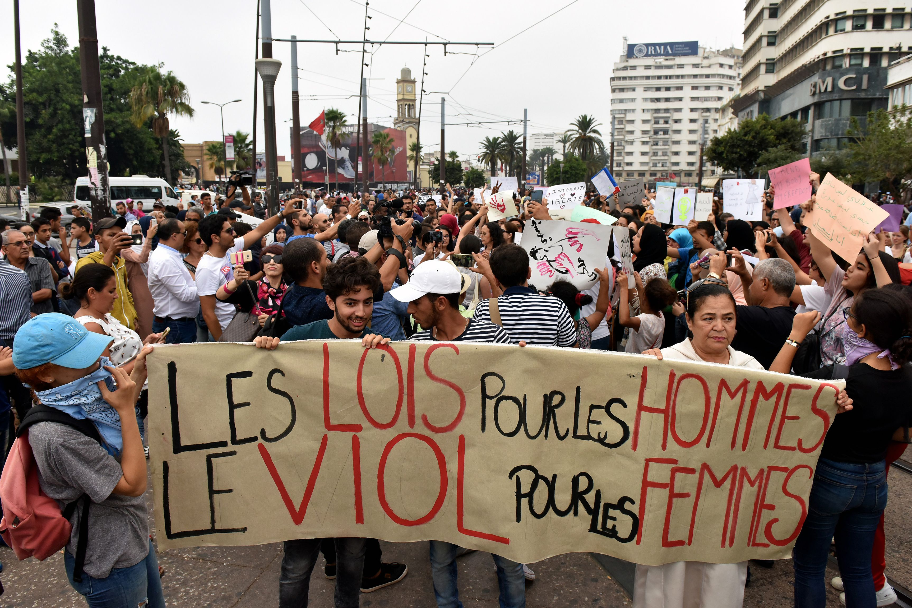 تظاهرات في المغرب