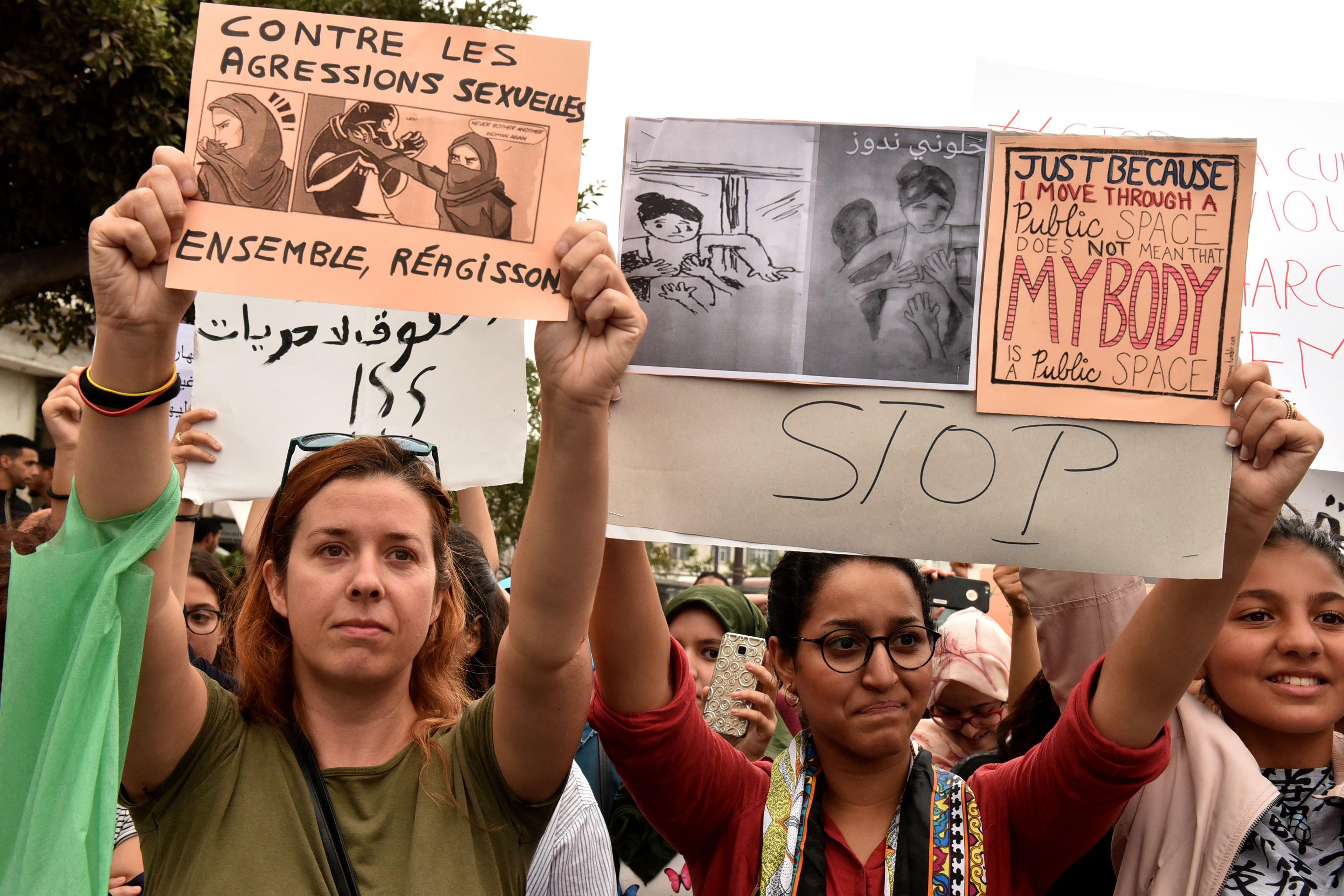 مسيرة ضد التحرش في المغرب