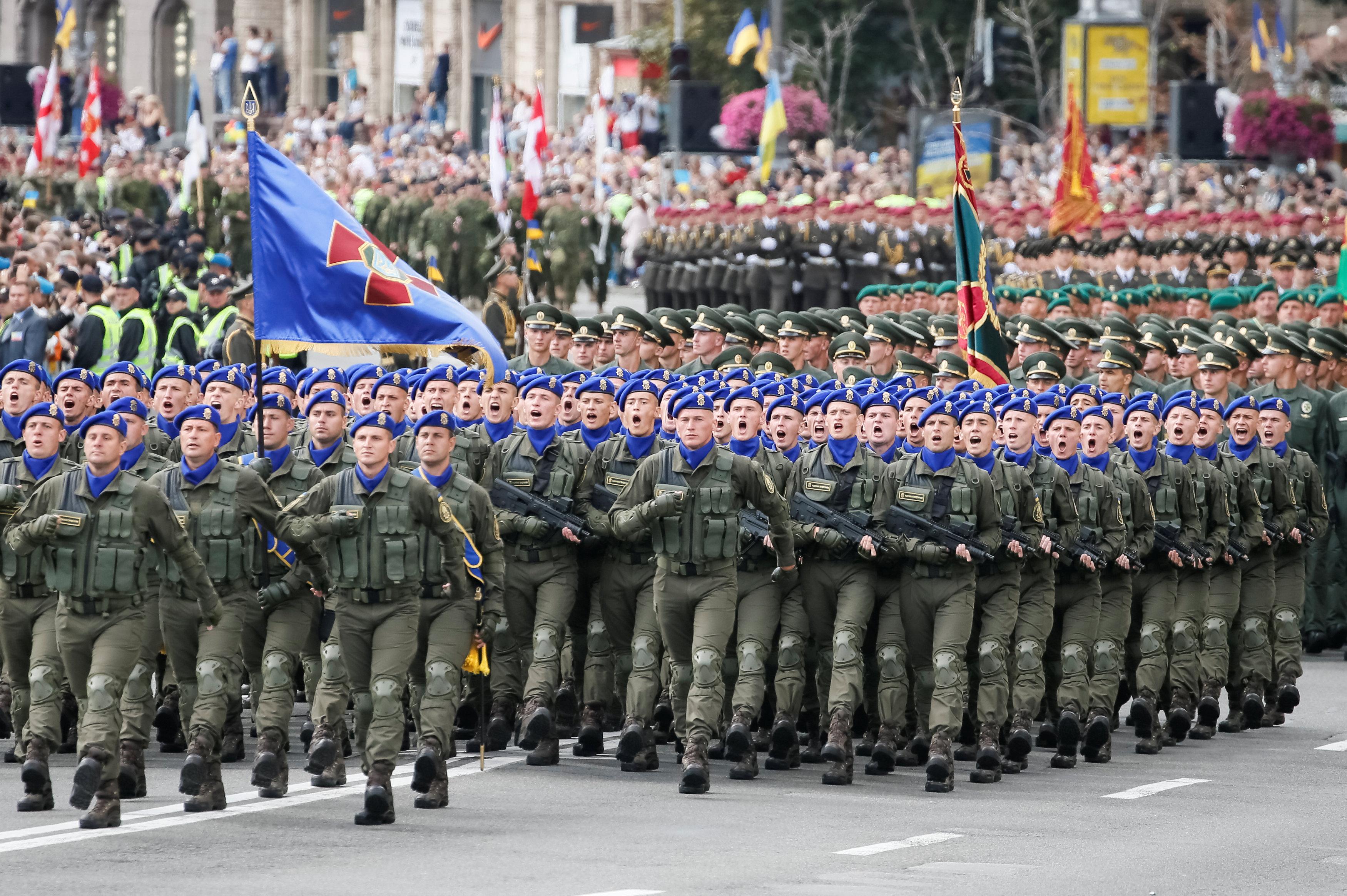 أحد عروض احتفالات عيد استقلال أوكرانيا