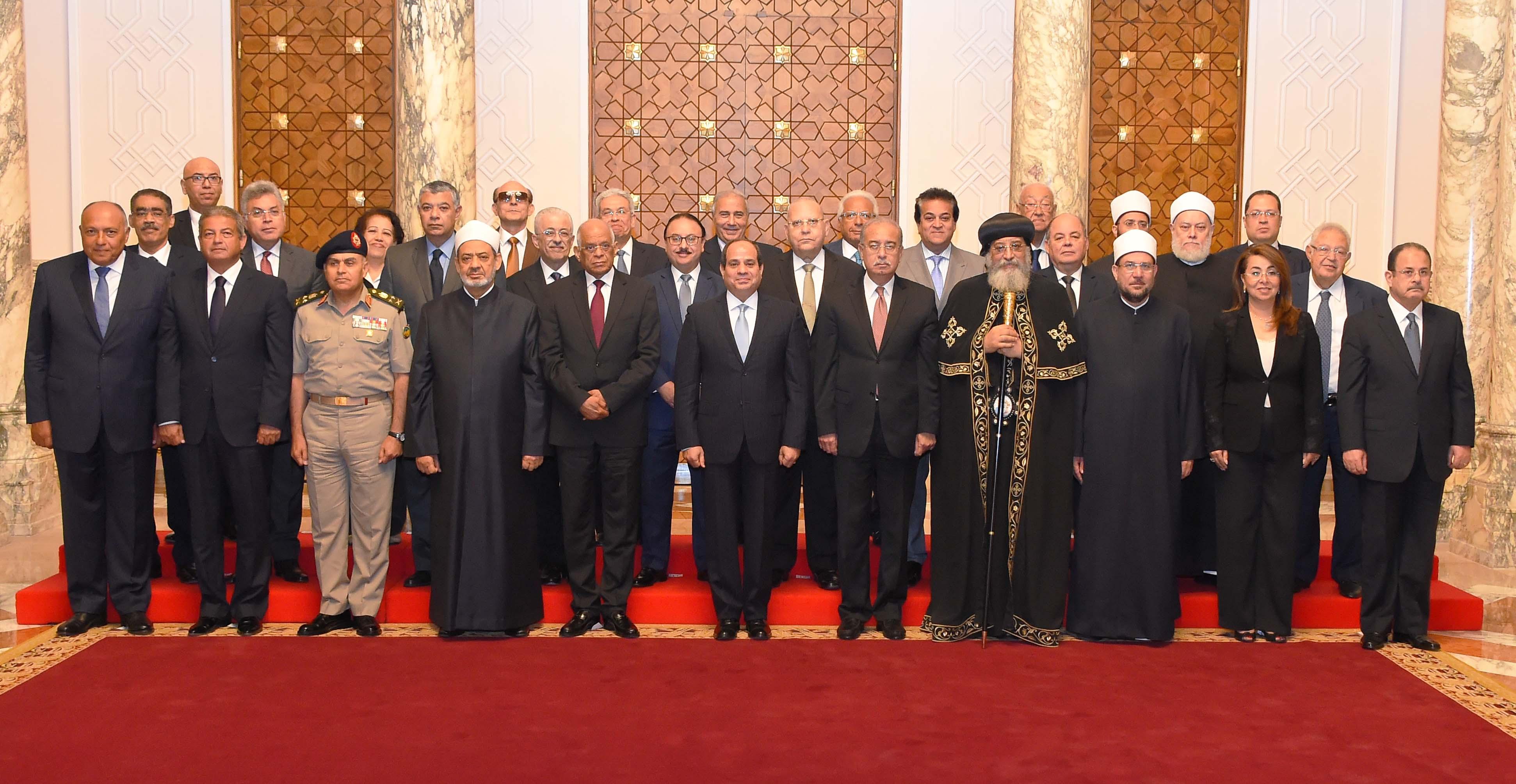 الاجتماع الأول للمجلس القومي لمواجهة الإرهاب والتطرف (1)