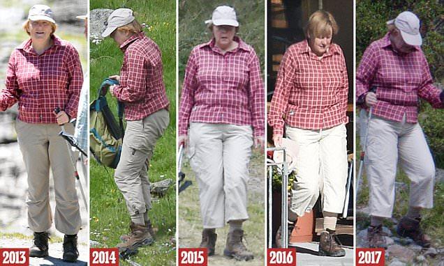 ميركل بنفس الملابس فى عطلاتها الصيفية منذ 2012