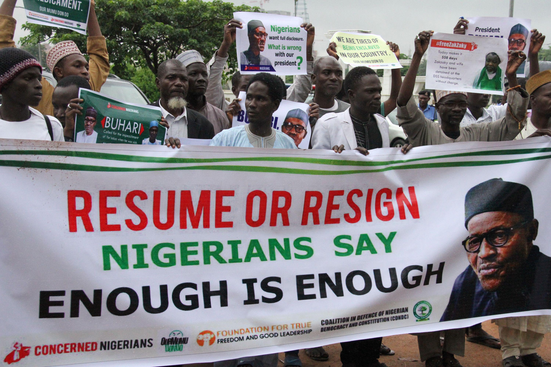 مظاهرات ضد الرئيس النيجيري