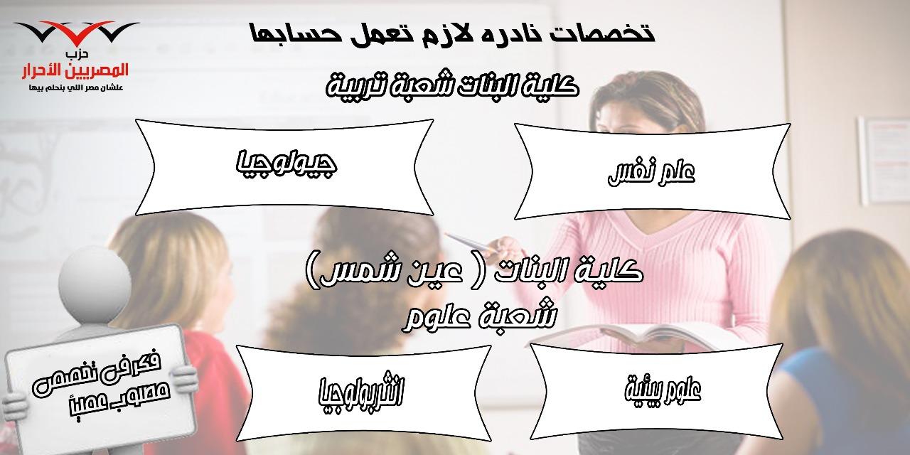 تخصصات كلية البنات