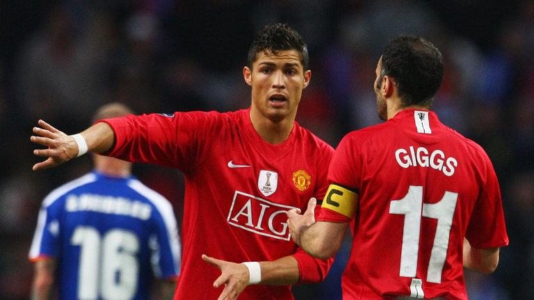 رونالدو وجيجز فى مانشستر يونايتد