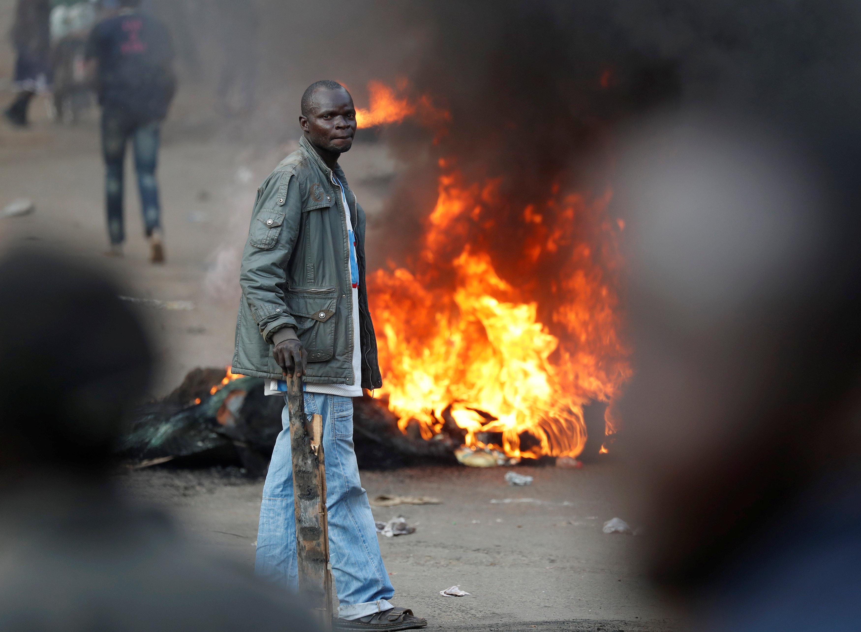 جانب من أعمال العنف