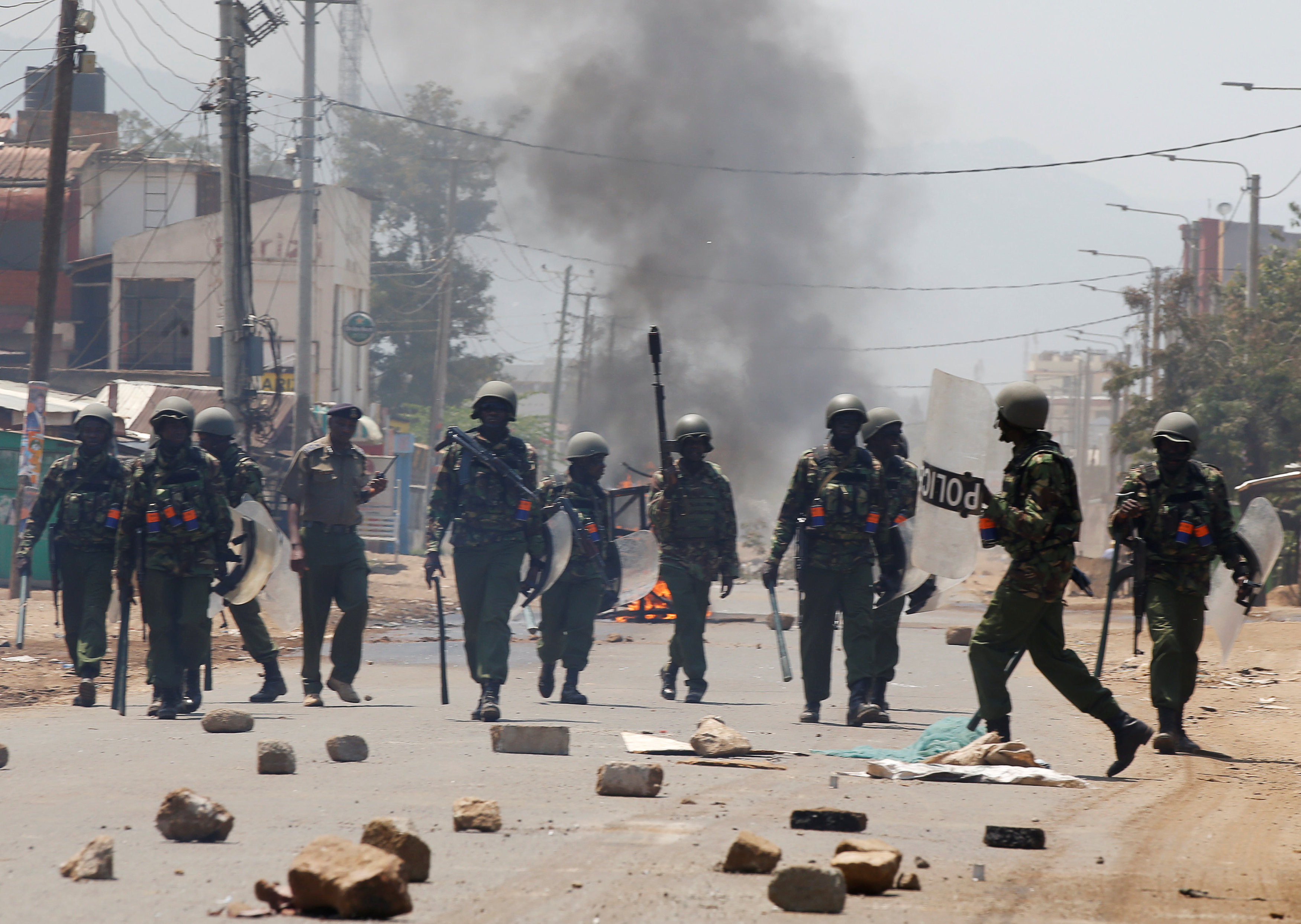 قوات الشرطة فى كينيا وسط أعمال عنف