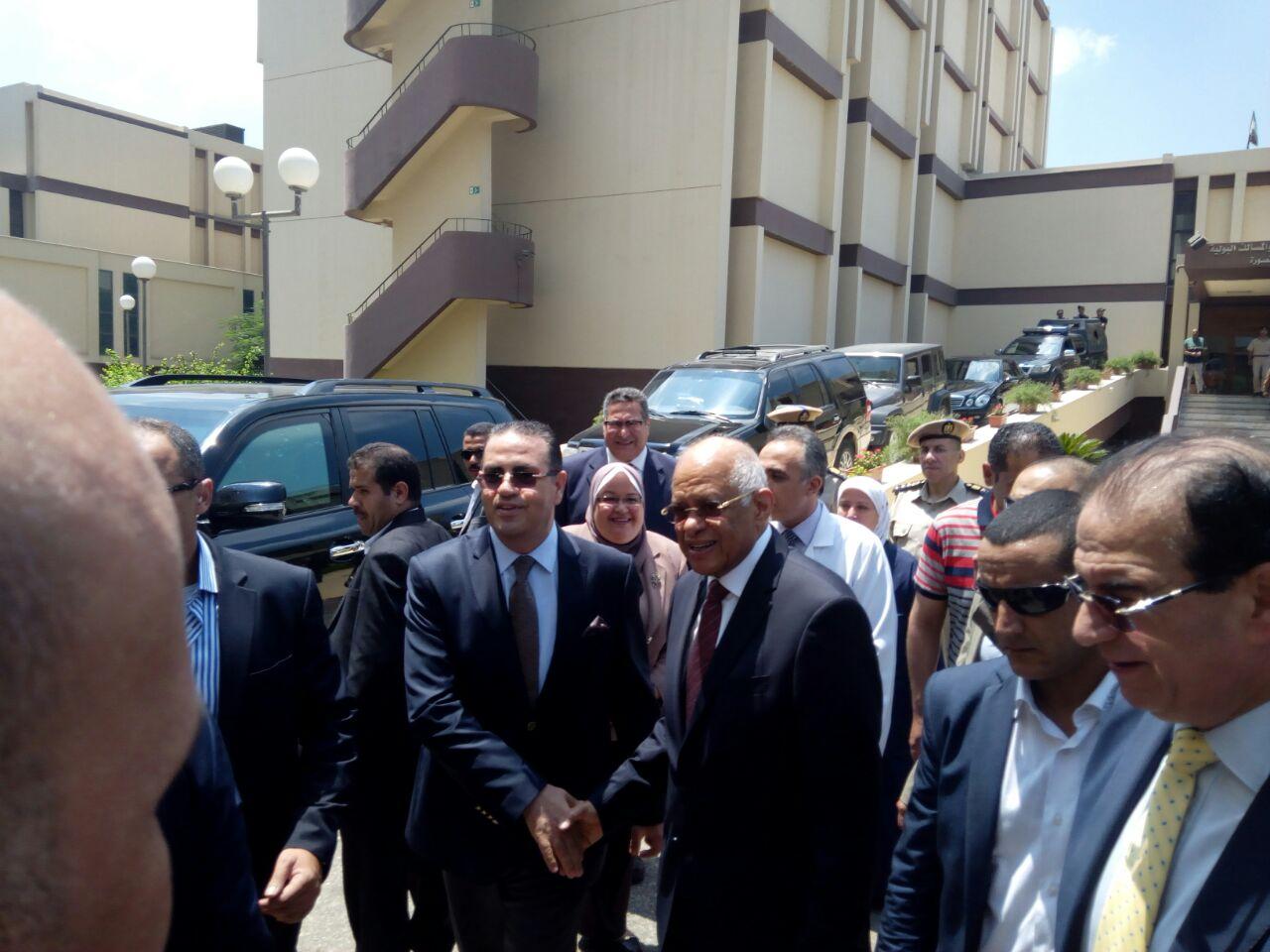 الدكتور على عبد العال رئيس مجلس النواب فى جامعة المنصورة
