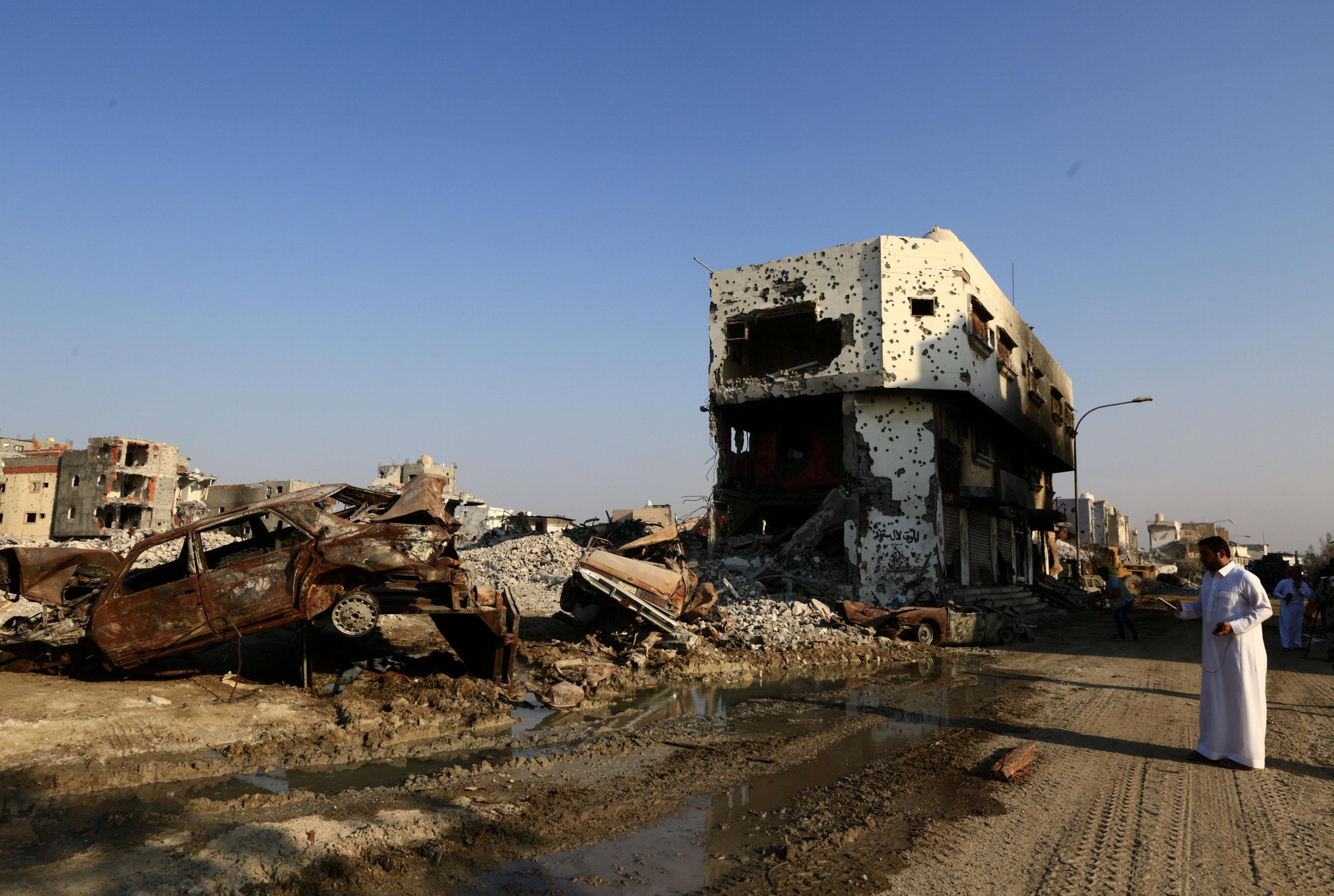 تدمير أوكار الإرهابيين
