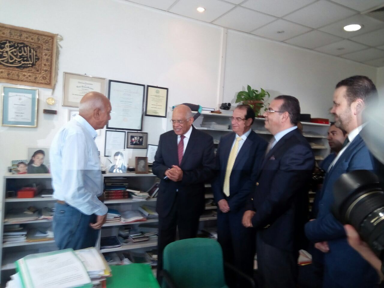رئيس مجلس النواب خلال حديثه مع الدكتور محمد غنيم