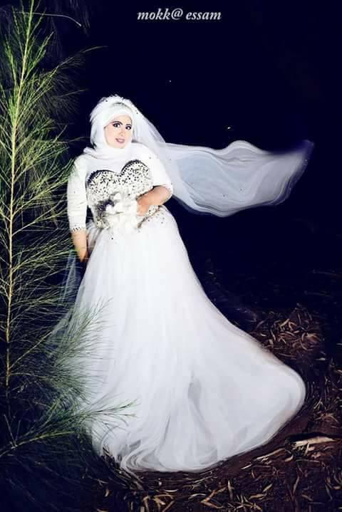 اسراء بفستان الزفاف