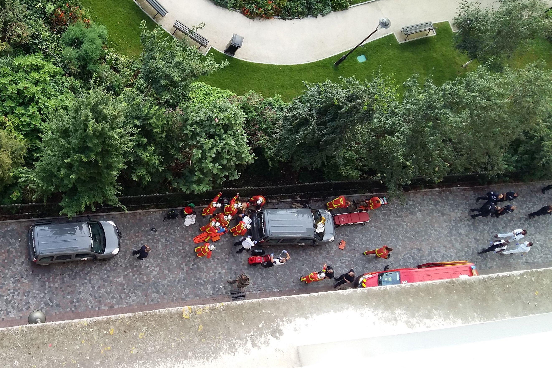 السيارة التى نفذت حادث الدهس