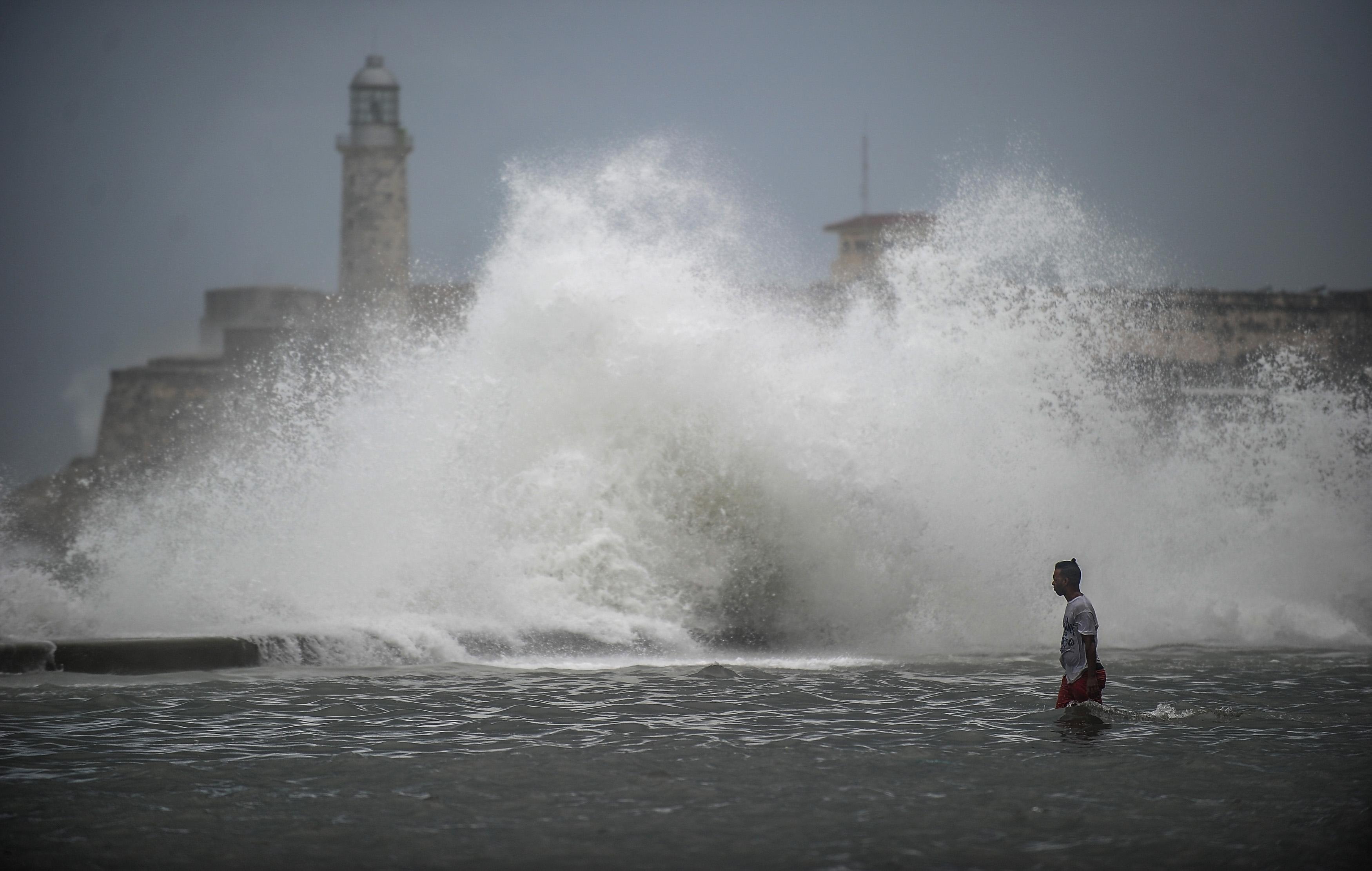 جانب من إعصار إرما