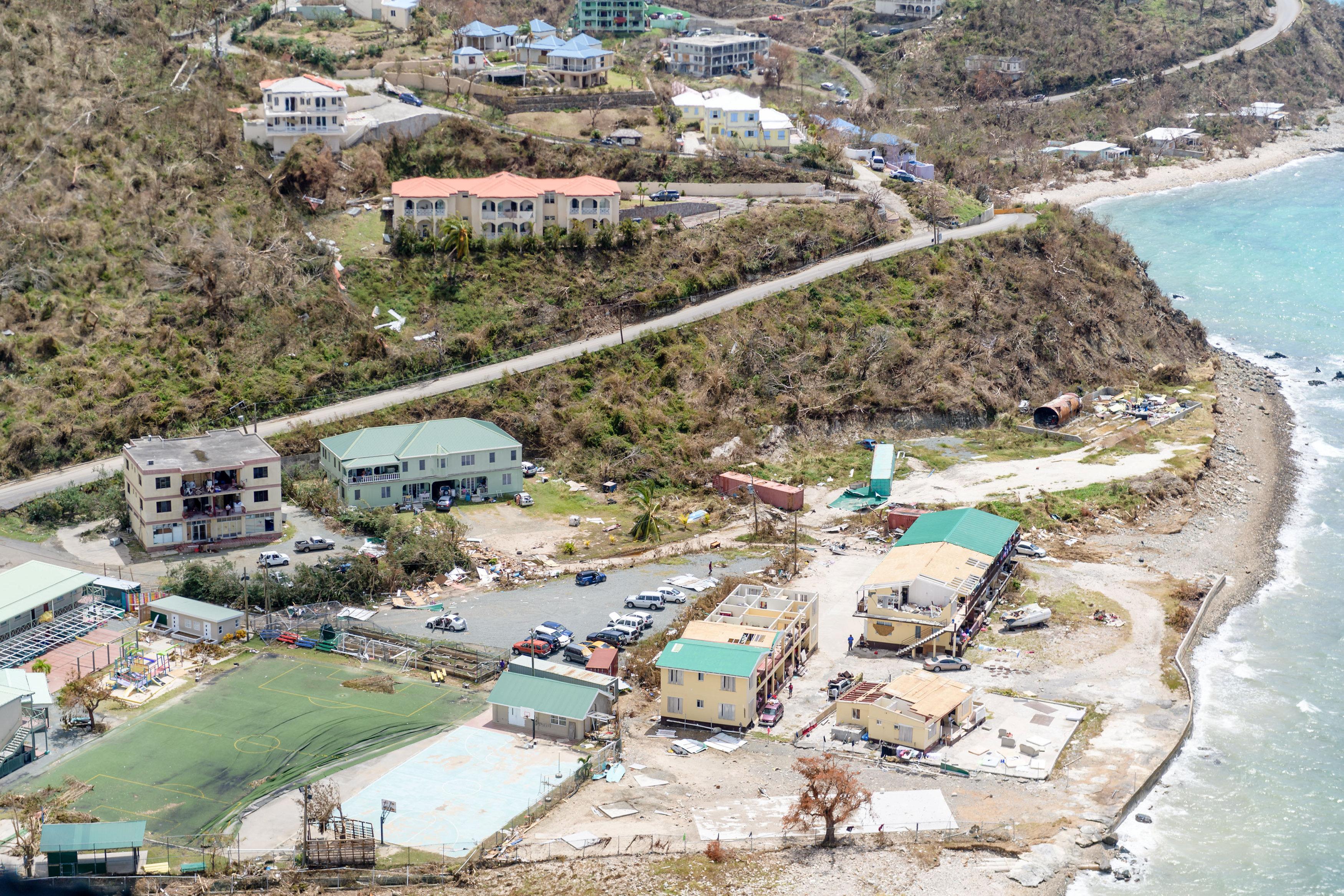 جانب من خسائر إعصار إرما