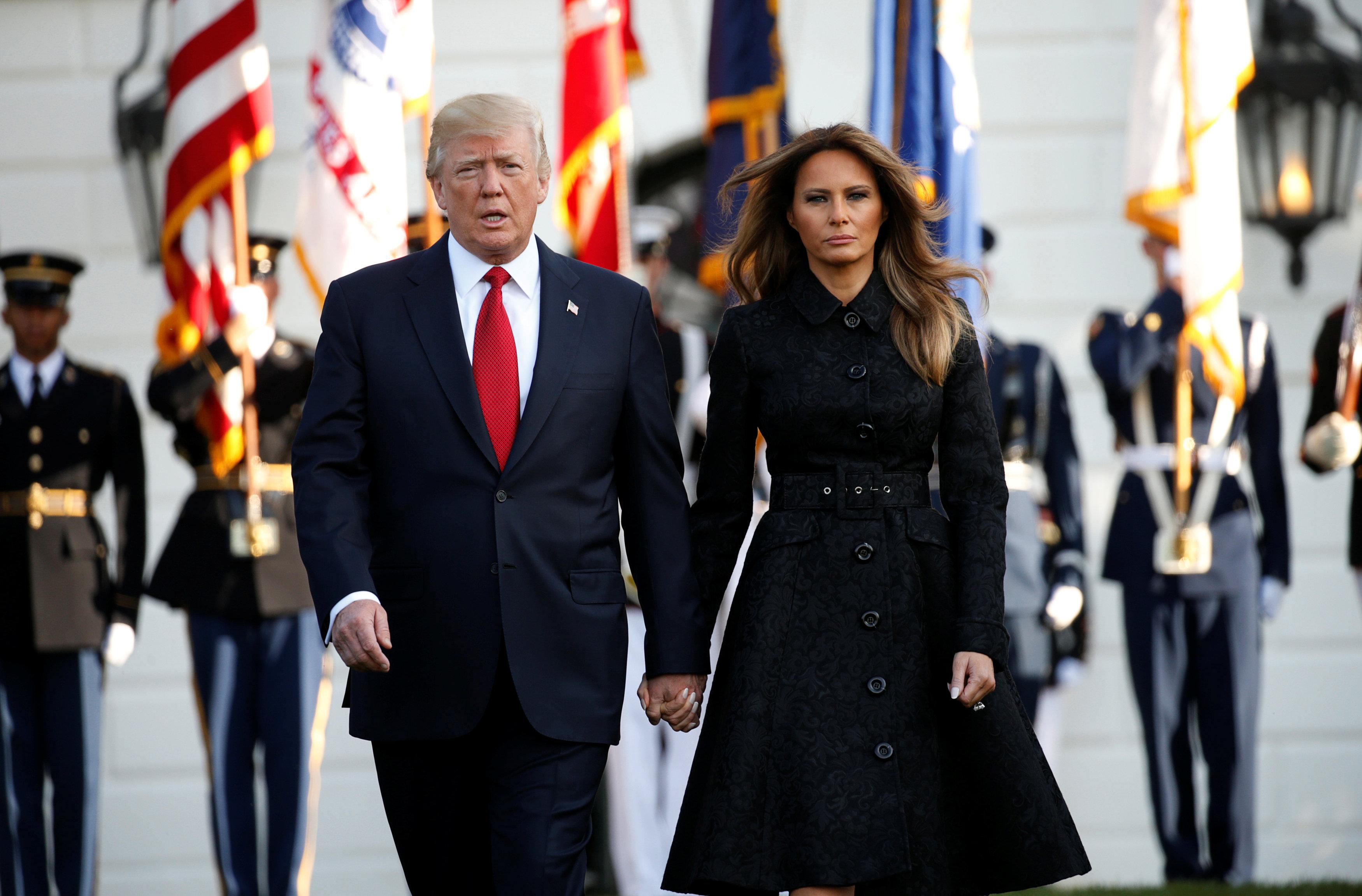 الرئيس الامريكى وزوجته