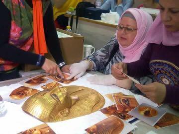 فض تعليف معرض عصر بناة الأهرامات بعد عودته من اليابان (1)