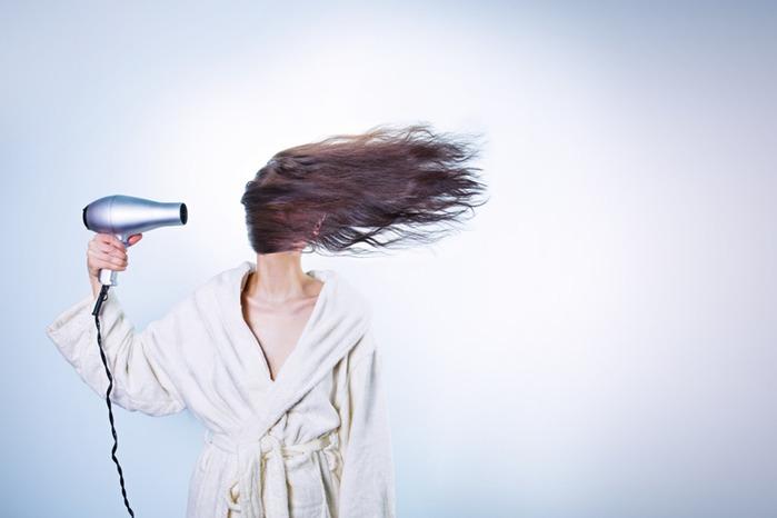 تجفيف الشعر