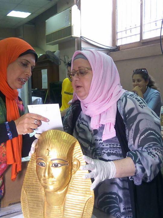 فض تعليف معرض عصر بناة الأهرامات بعد عودته من اليابان (2)