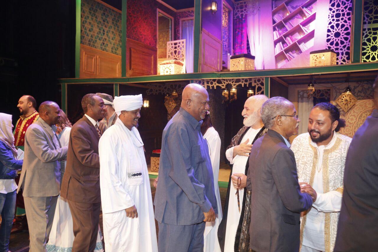 وفد من الخارجية السودانية فى مسرحية قواعد العشق الأربعين (1)