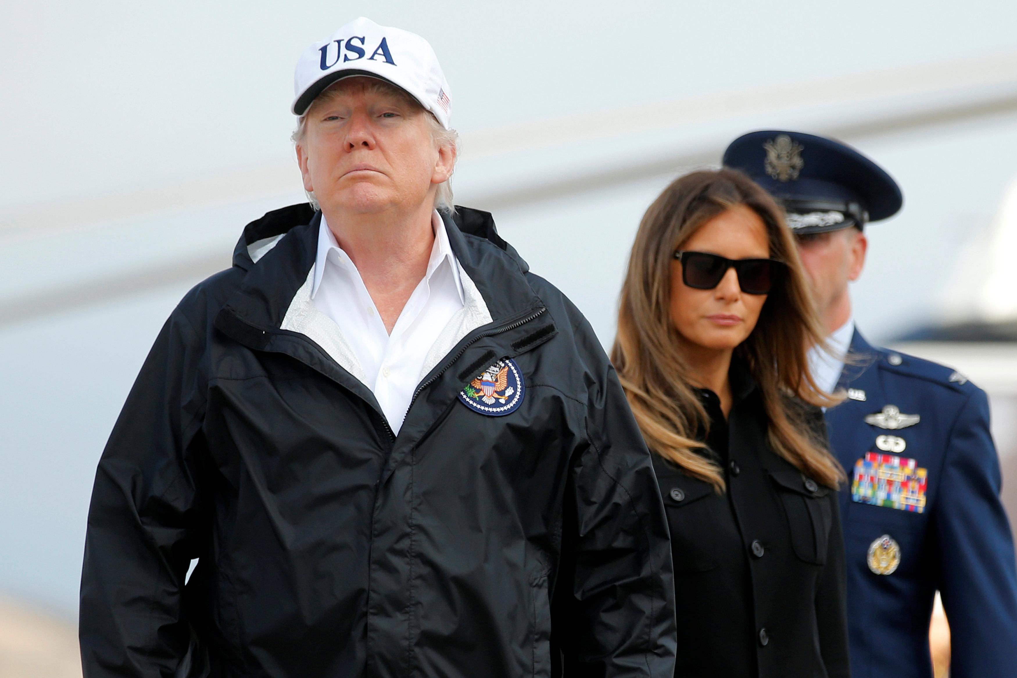 الرئيس الأمريكى وميلانيا ترامب