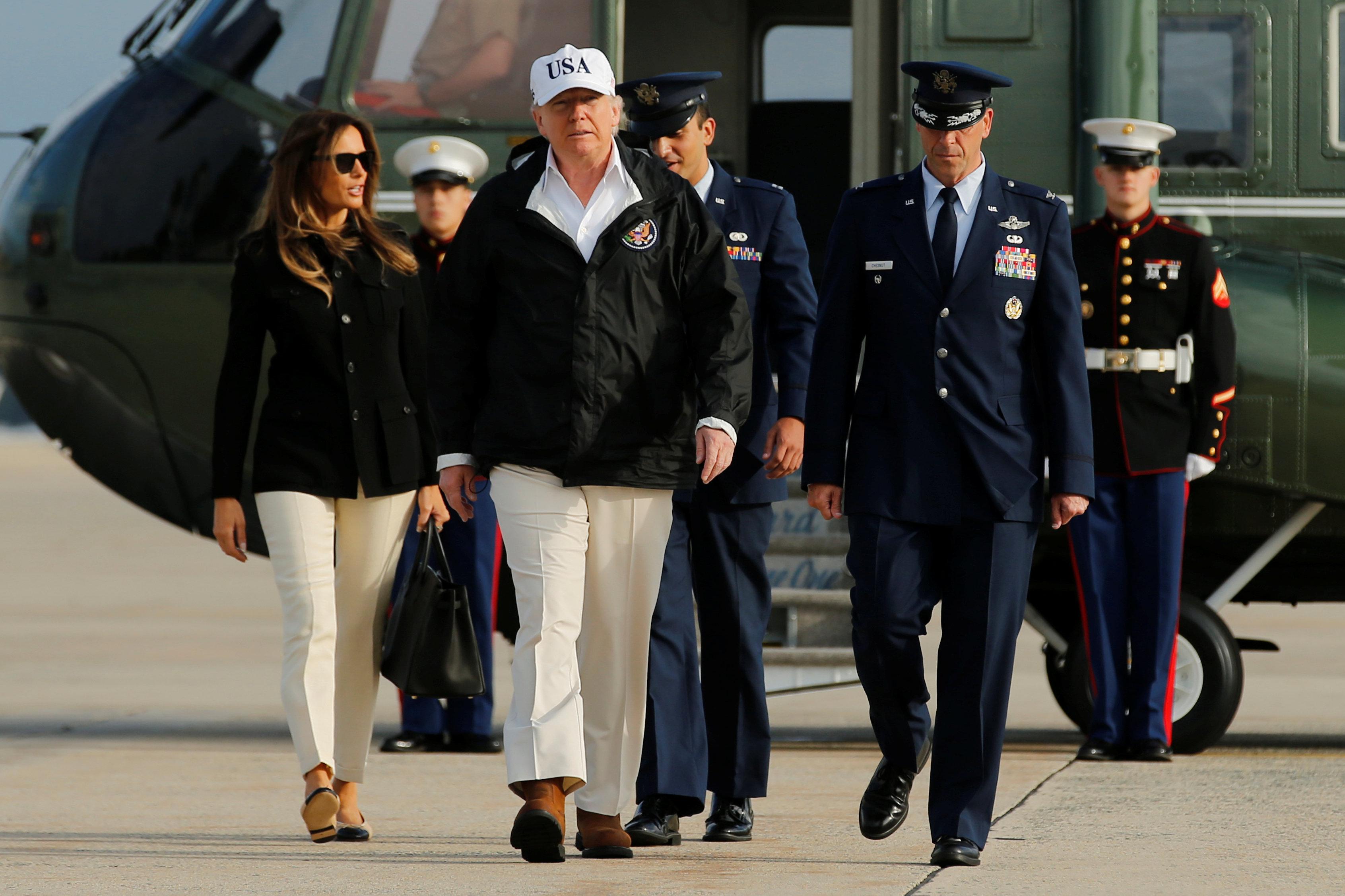 ترامب وزوجته يتوجهان إلى فلوريدا