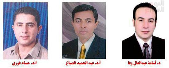 اساتذة جامعة كفر الشيخ المشاركون فى المشروع