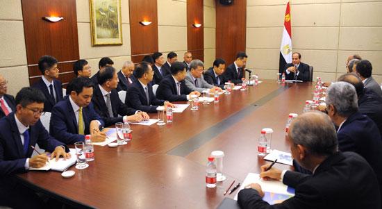 اجتماع السيسى مع كبرى الشركات (2)