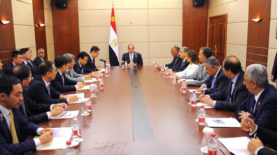 اجتماع السيسى مع كبرى الشركات (1)