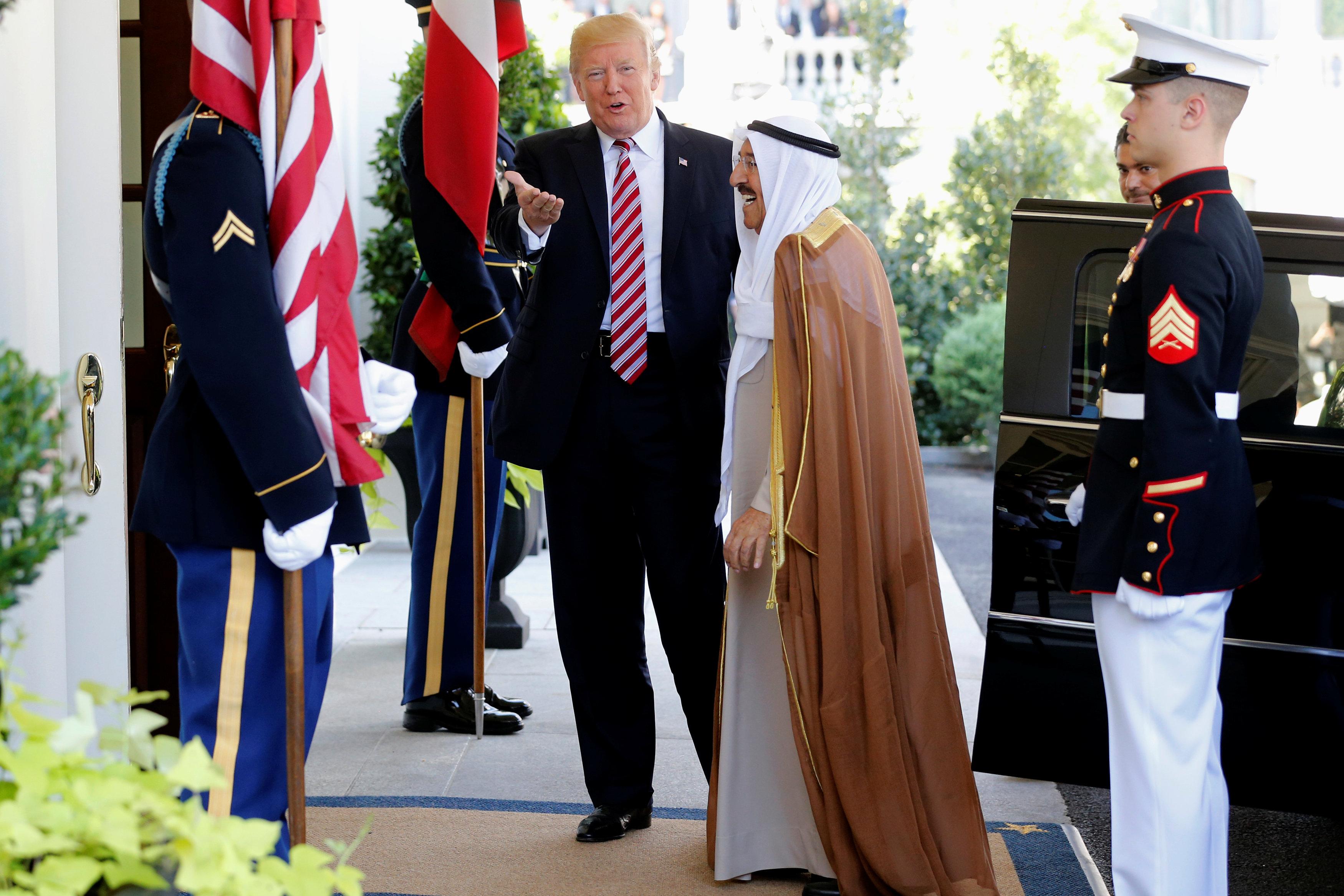 أمير الكويت في البيت الأبيض
