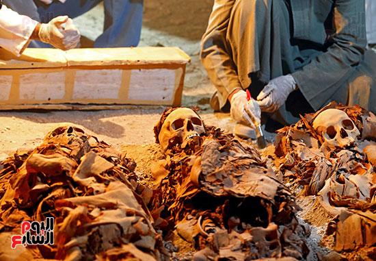المقبرة التى تم إكتشافها (كامب 390) لتاجر ذهب فى العصور الوسطى الفرعونية.