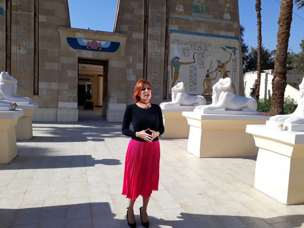 الاعلامية نضال الناطور في برنامج قصة مكان للتليفزيون الفلسطيني