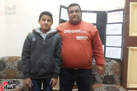 محرر اليوم السابع مع الطالب زياد