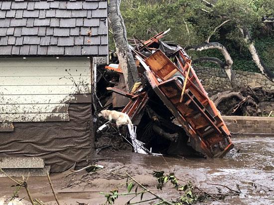 انهيارات طينية فى كاليفورنيا