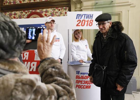 حملة لدعم الرئيس الروسى فى الانتخابات الرئاسية