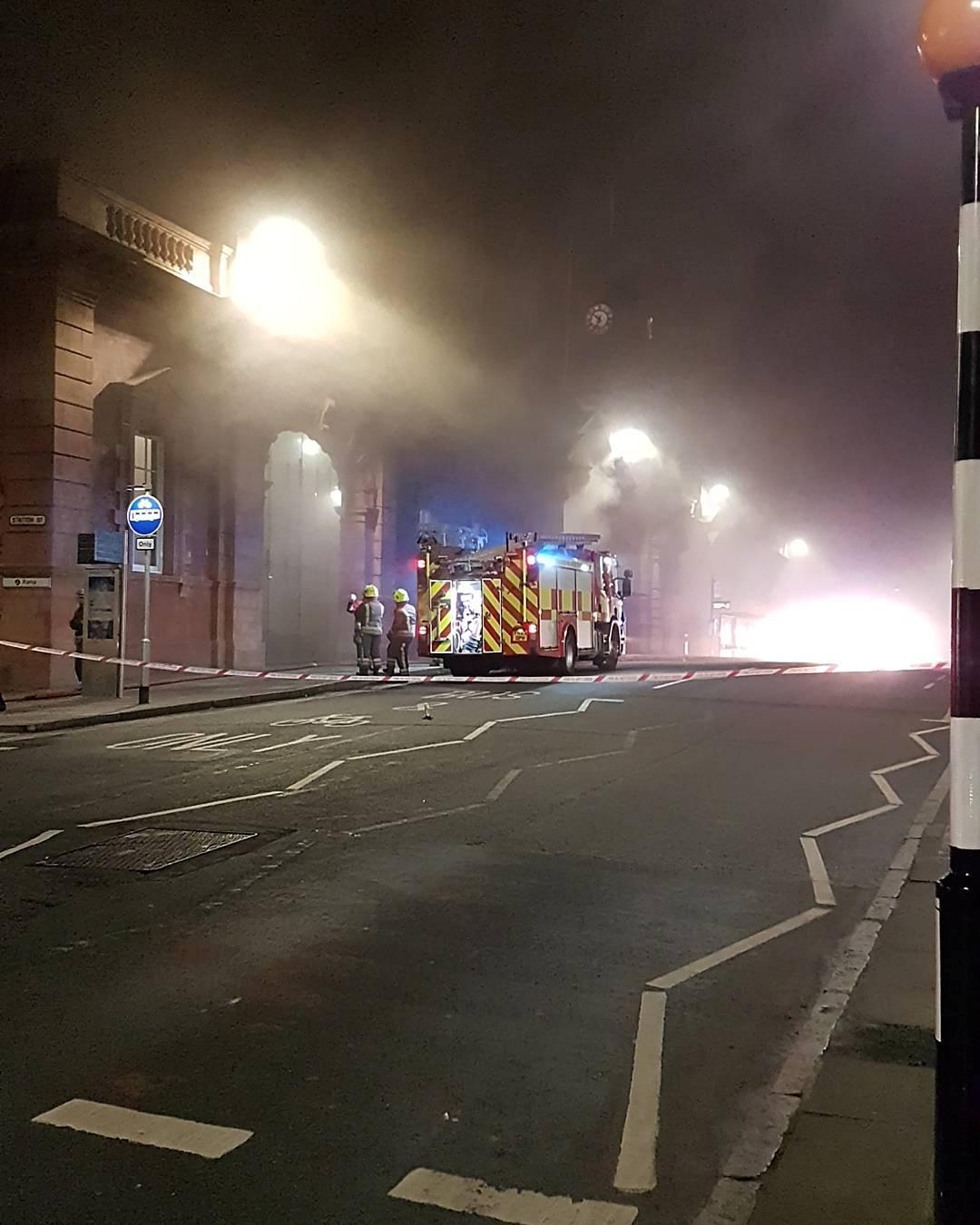 حريق بمحطة قطار نونتنجهام