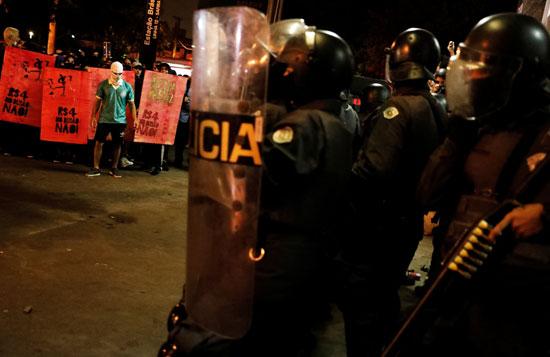 جانب من مظاهرات فى البرازيل