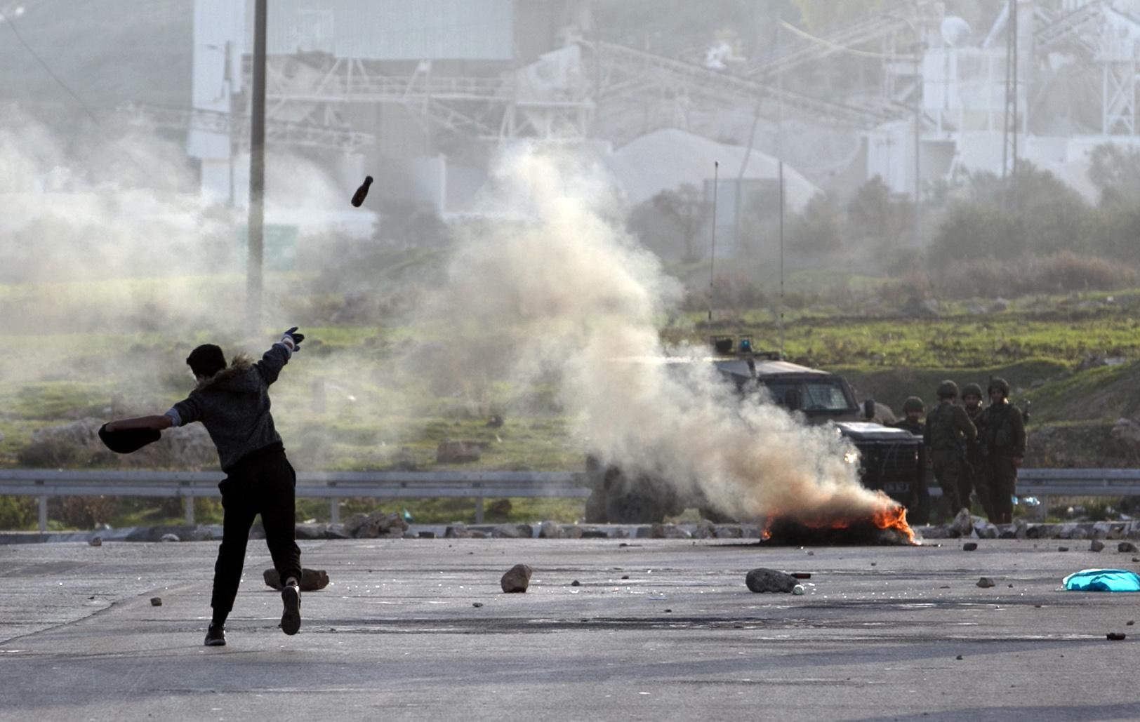 غاز قوات الاحتلال