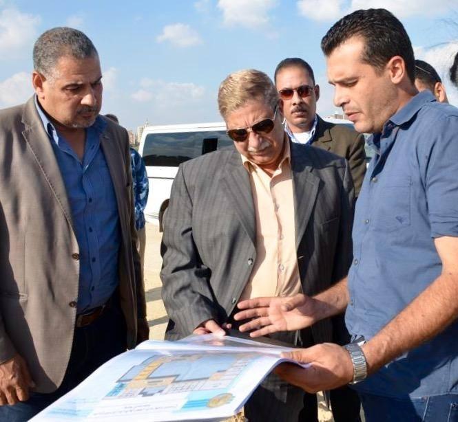 المحافظ يستعرض خريطة أراضى السكة الحديد