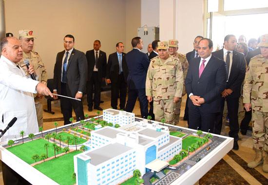 افتتاح السيد الرئيس لأعمال تطوير المجمع الطبي للقوات المسلحة بالمعادي (6)