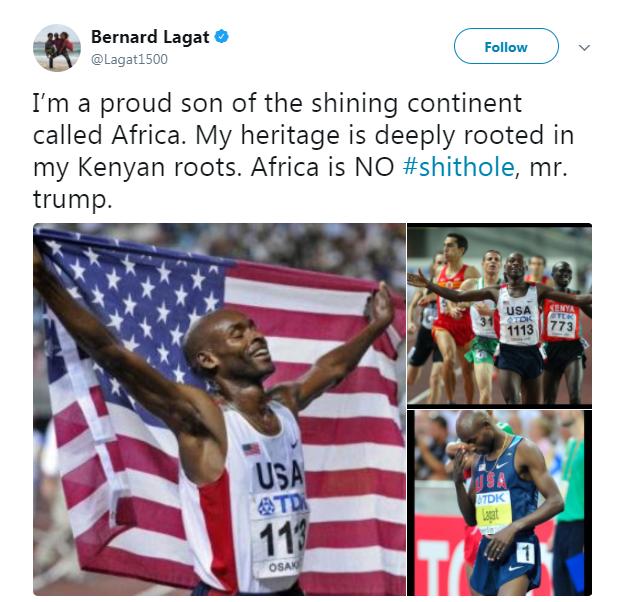 تغريدة لاعب القوى