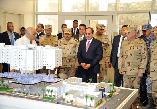 افتتاح السيد الرئيس لأعمال تطوير المجمع الطبي للقوات المسلحة بالمعادي (2)