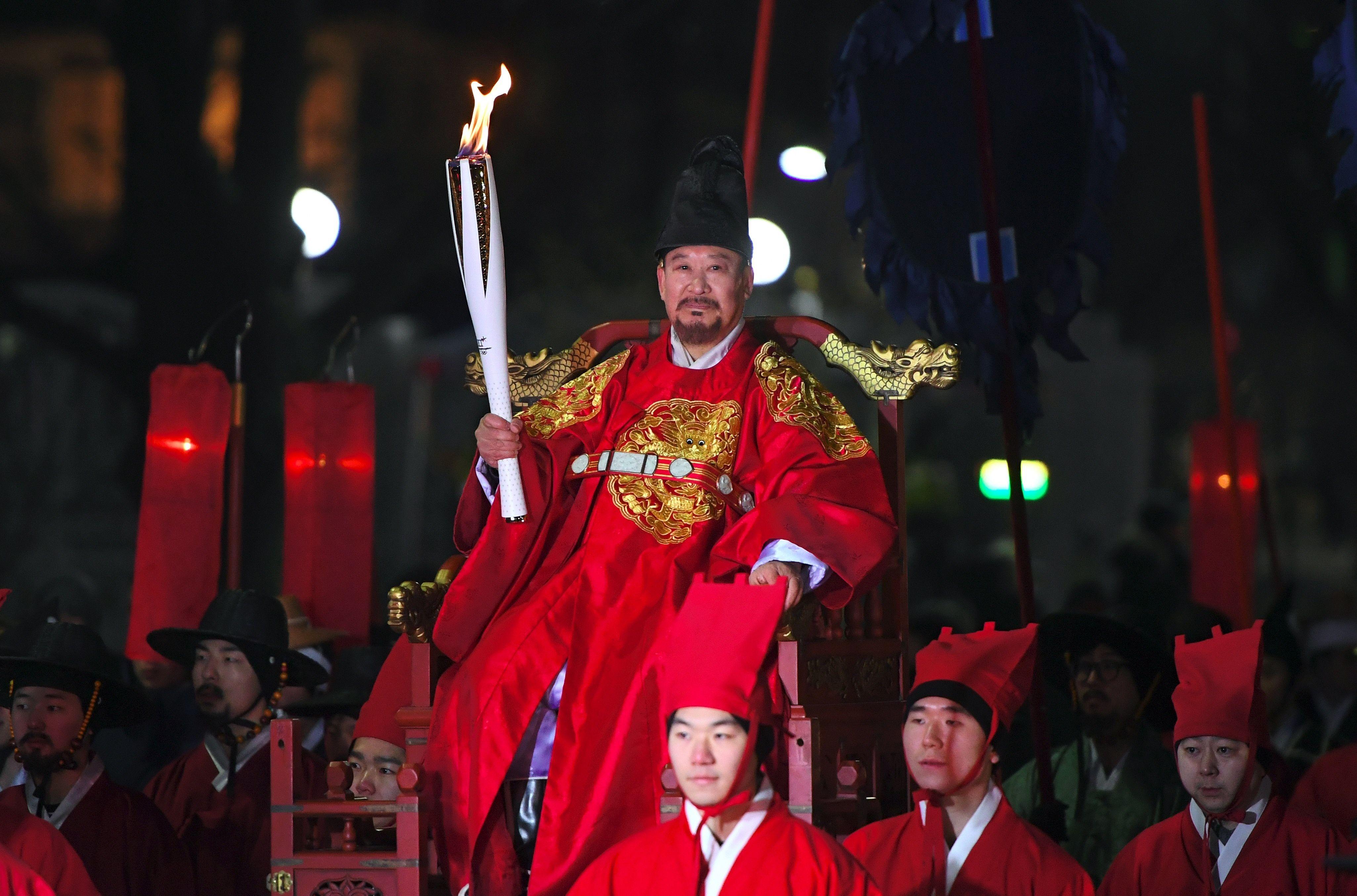 الشعلة الأولمبية فى كوريا