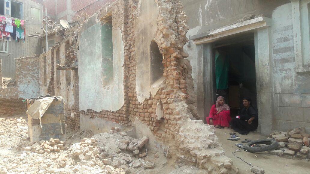 المنزل بعد هدمه
