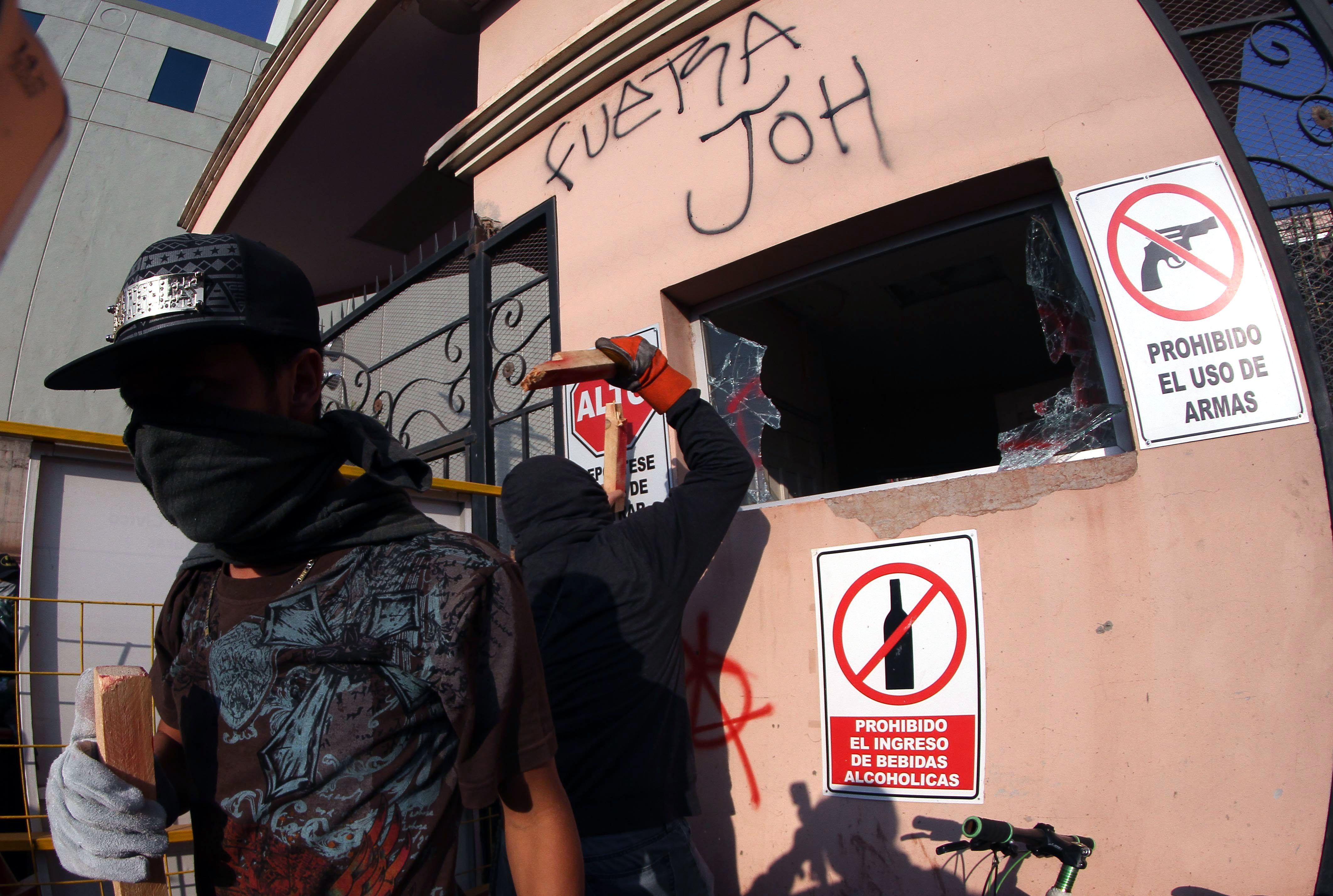 جانب من أعمال الشغب فى هندوراس