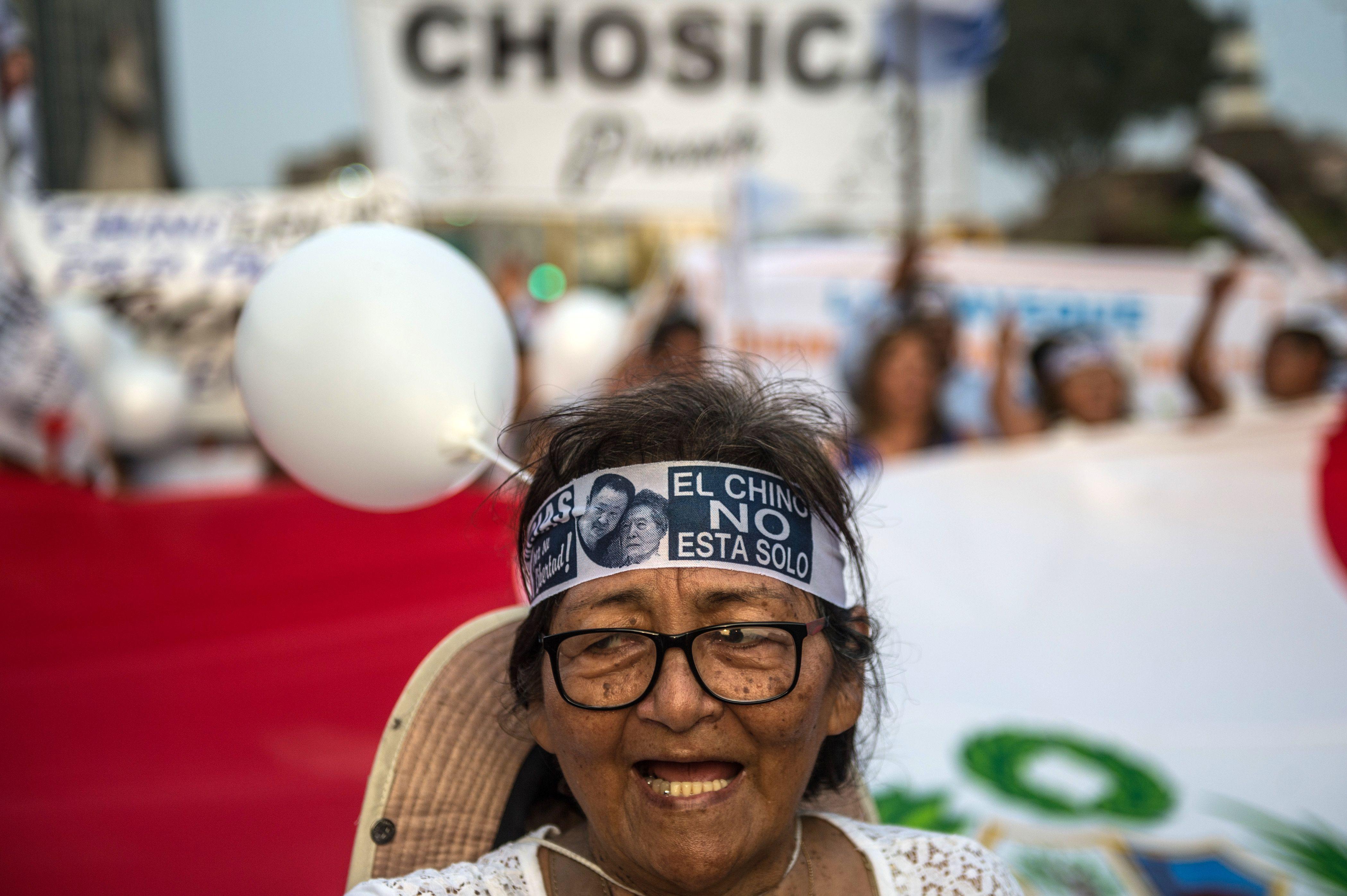 إحدى المتظاهرات فى بيرو