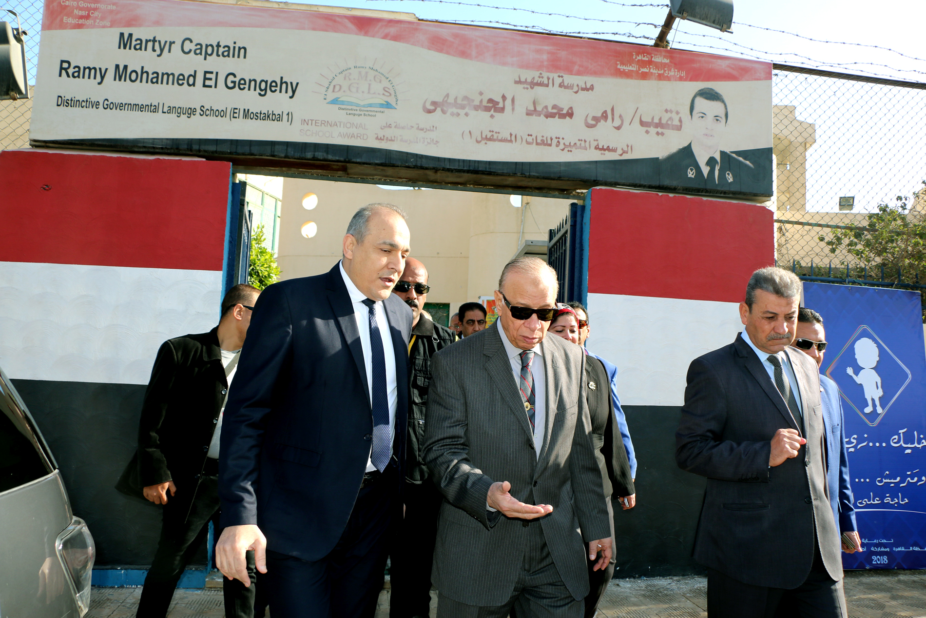 محافظ القاهرة يتفقد سير امتحانات الشهادة الإعدادية (7)
