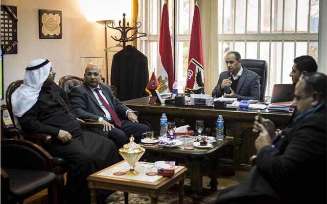 محمد مرجان يستقبل وفد المجلس البحريني