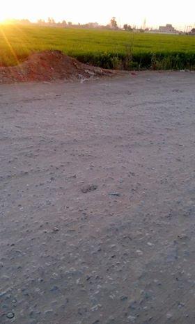اختفاء طبقة الاسفلت من طريق القرية وظهور الحفر