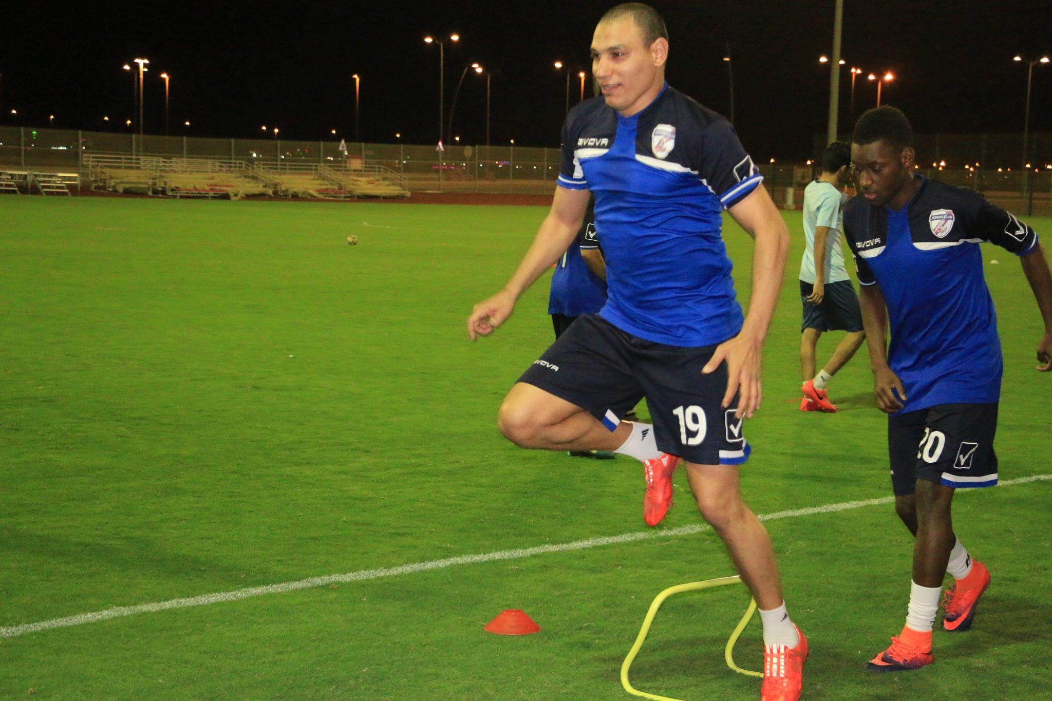رضا الويشي في تدريبات جدة السعودي